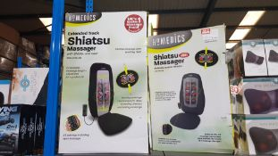3 Items : 2 X Homedics Extended Track Shiatsu Massager With Heat & 1 X Homedics Shiatsu Massager