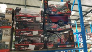 6 Items: 3 X Red5 X-Knight Extreme Speed RC Buggy & 3 X Red5 High speed RC Racing Truck 6 Items: 3 X