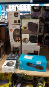 11 Items : Mixed Speaker Lot To Include 4 X He Lantern Flame Speaker, 1 x Swipe Duet Twin Wireless