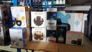 13 Items : 7 X He Lightshow Water Speakers, 2 X Magic Moving Monkey Speaker, 2 X He Aqua Speaker,