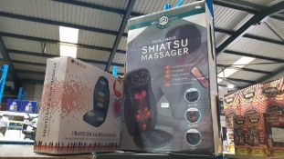 2 Items : 1 X Well Being Triple Mode Shiatsu Massager With Heat & 1 X Lifemax Heated Back & Seat