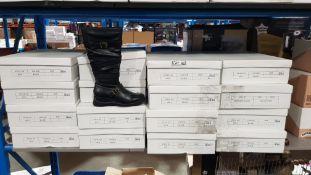 (R4G) 16 X Pair Black Zip Boots Size 3 (New)