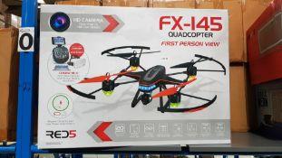 (R4N) 2 X Red5 FX-145 Quadcopter FPV RC Drone