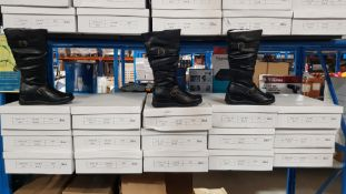 (R4H) 15 X Pair Black Zip Boots Size 3 (New)