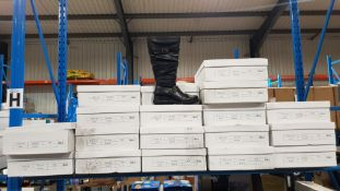 (R4G) 18 X Pair Black Zip Boots Size 3 (New)