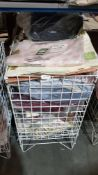 (R4O) Contents Of Cage : A Quantity Of Mixed Dunelm Mill Linen Items To Include Valance Sheets, Sin