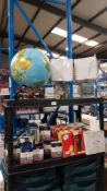 (R4I) Approx. 47 Items : 1 X Light Up Globe & 2 X Mirror Square Desk Lamps, 16 X Home Etc Safe Tin,