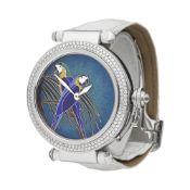 Cartier Pasha de Cartier WJ124006 or 3142L Ladies White Gold Enamel Dial Watch