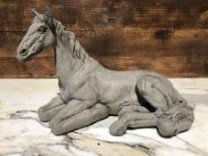 Very detailed Laying down horse