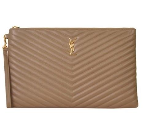 Yves Saint Laurent - Monogram Leather Clutch