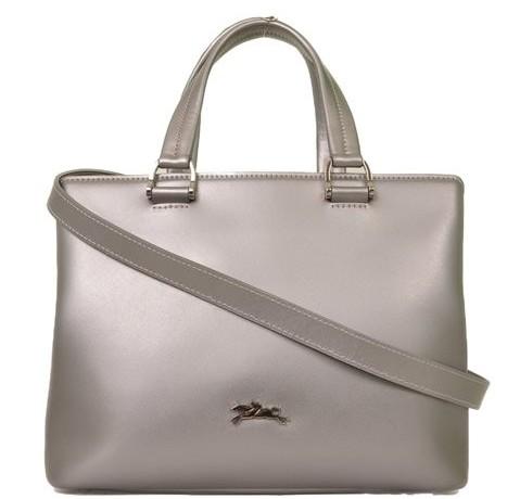 Longchamp - Shiny Leather Shoulder Bag