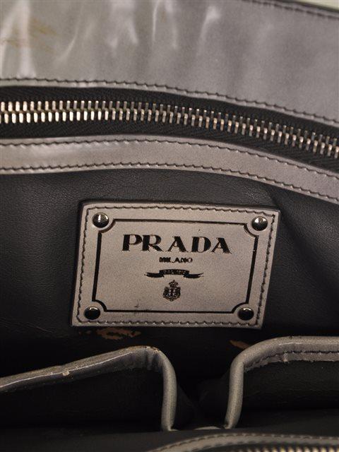Prada - Crystal Embellished Vitello Shiny Leather Hand Bag - Image 6 of 6
