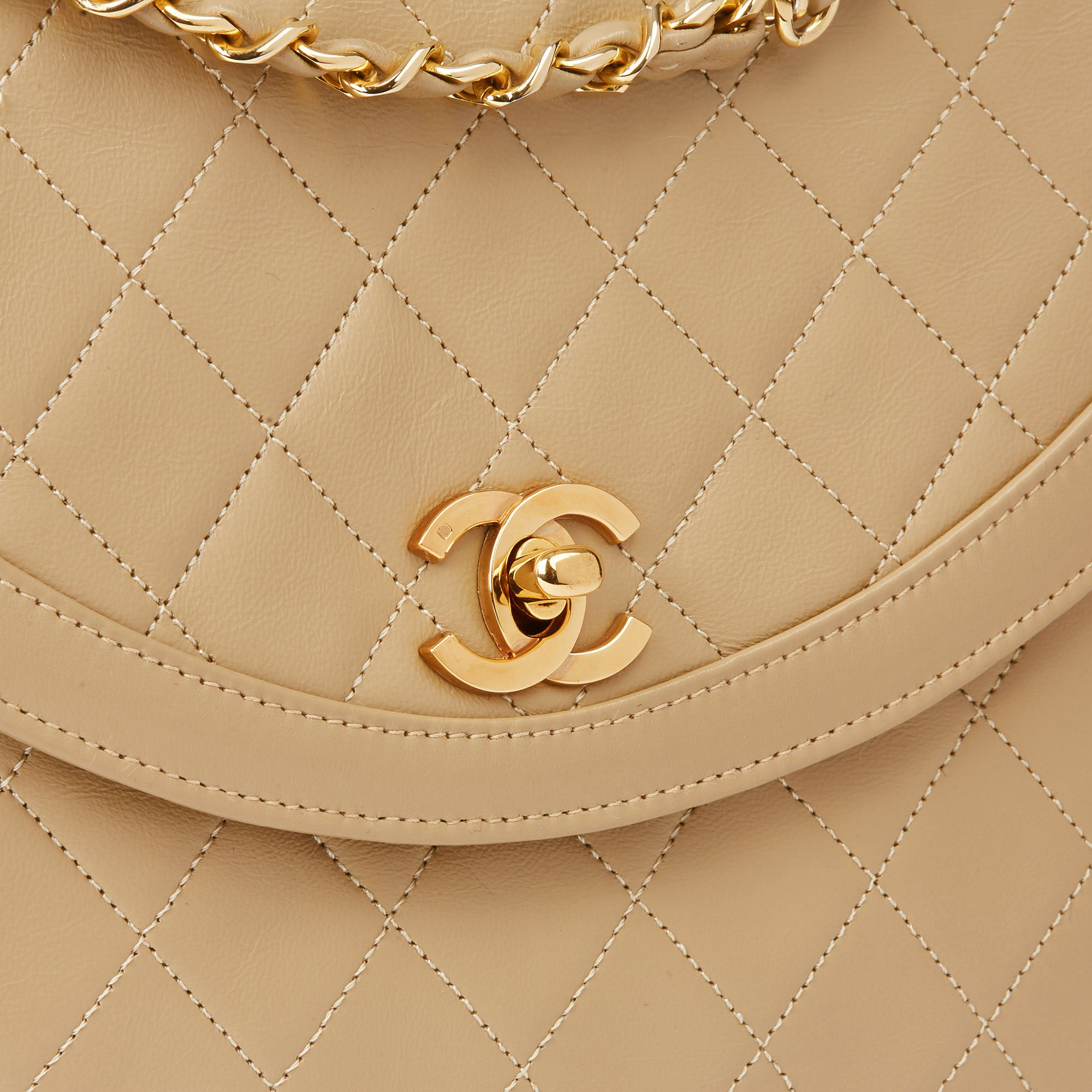 Chanel Dark Beige Quilted Lambskin Vintage Classic Single Flap Bag - Image 7 of 11