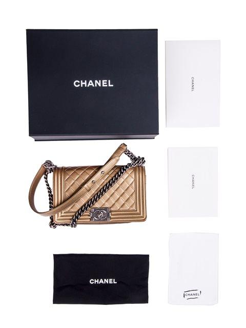 Chanel - Boy Sleek Lines Medium leather shoulder bag - Image 4 of 12