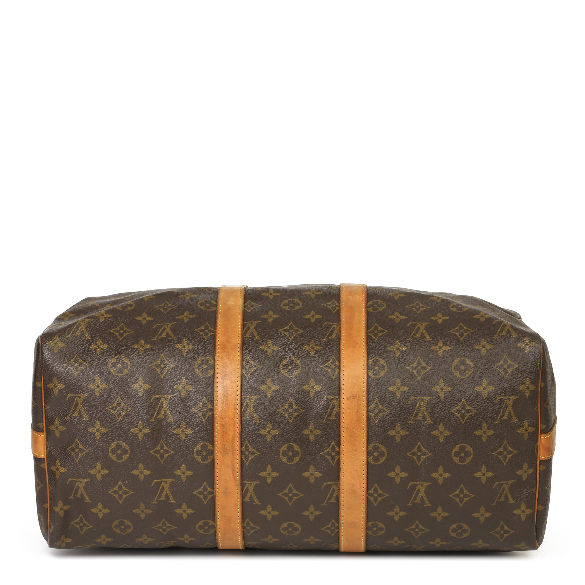 Louis Vuitton Brown Monogram Coated Canvas & Vachetta Leather Vintage Keepall 45 Bandoulire - Image 10 of 13