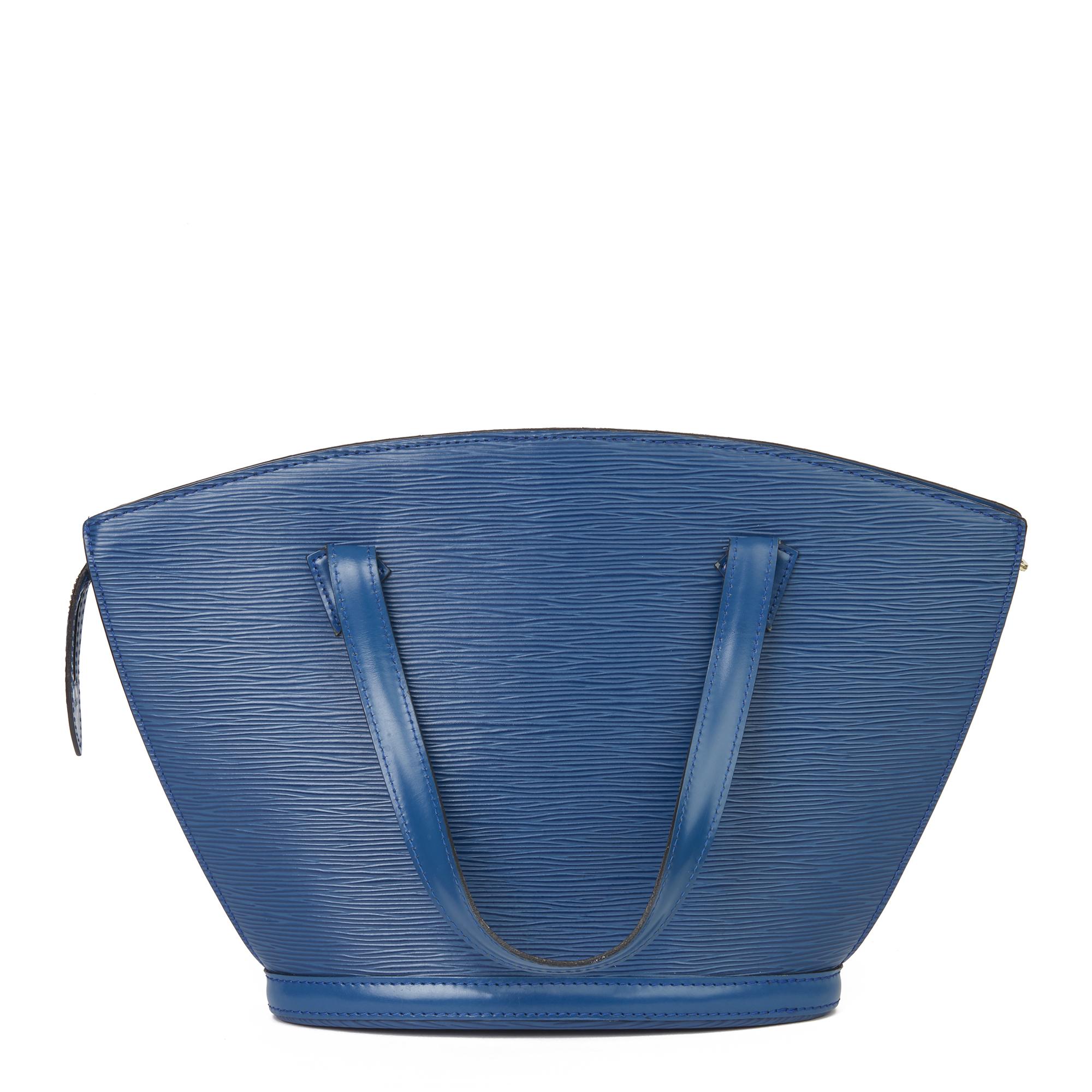 Louis Vuitton Blue Epi Leather Vintage Saint Jacques PM - Image 9 of 11