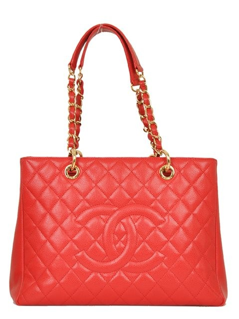 Chanel - Leather Grand Shopper Shoulder Bag - Image 5 of 8