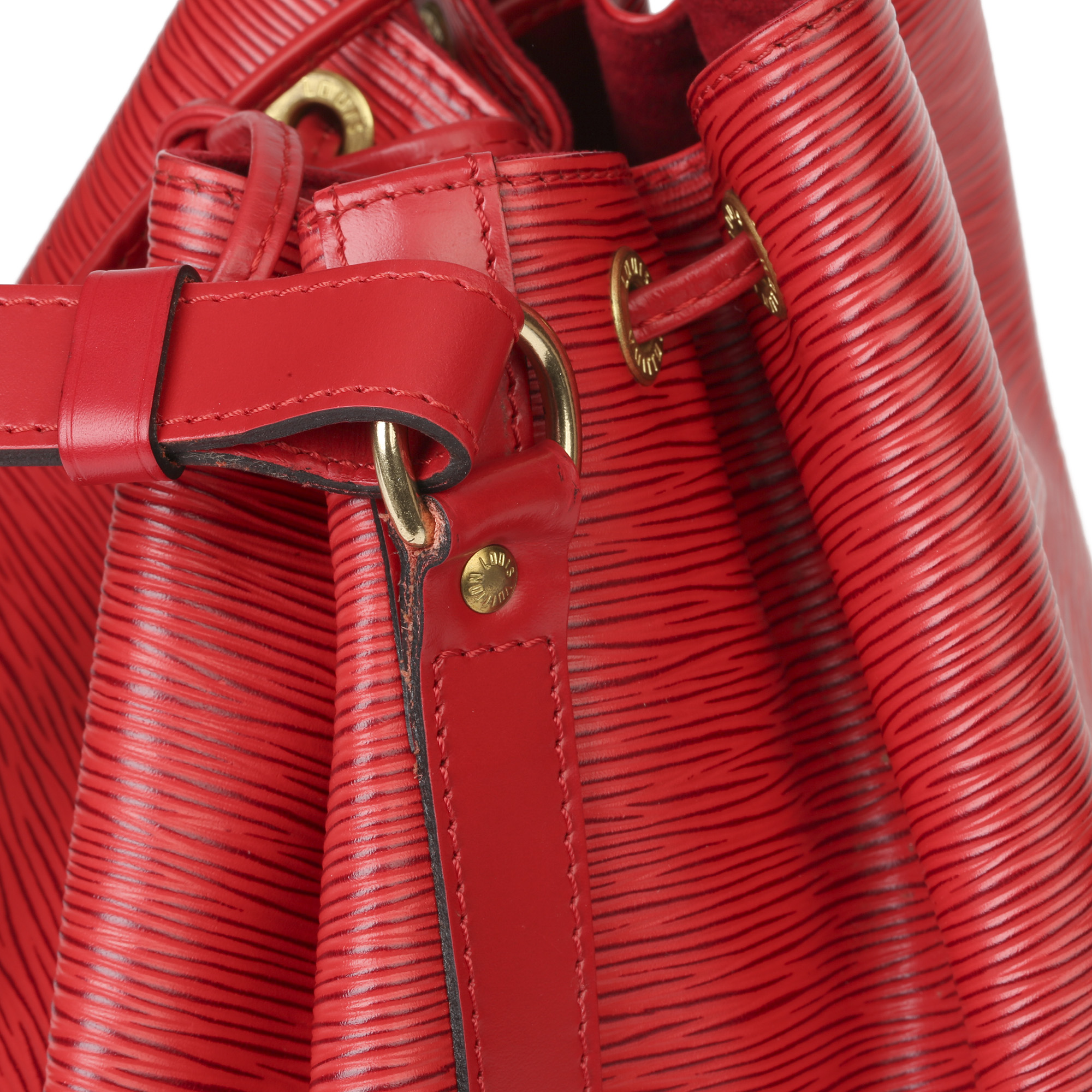 Louis Vuitton Red Epi Leather Vintage Petit NoŽ - Image 6 of 11