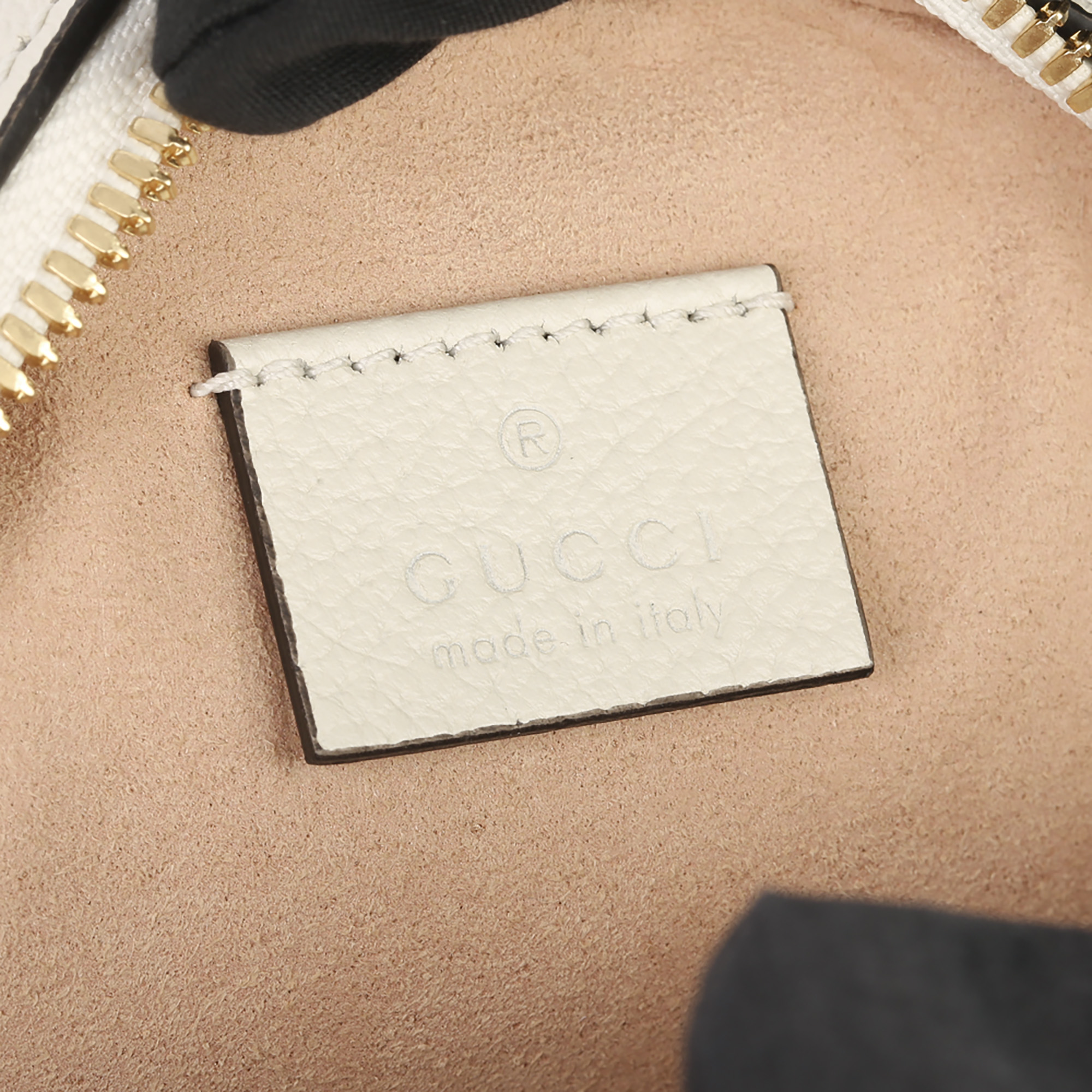 Gucci White Pigskin Leather Web Mini Round Orphidia Shoulder Bag - Image 5 of 11
