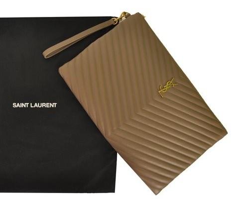 Yves Saint Laurent - Monogram Leather Clutch - Image 4 of 8
