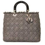Christian Dior - Lady Dior Denim Large Hand Bag