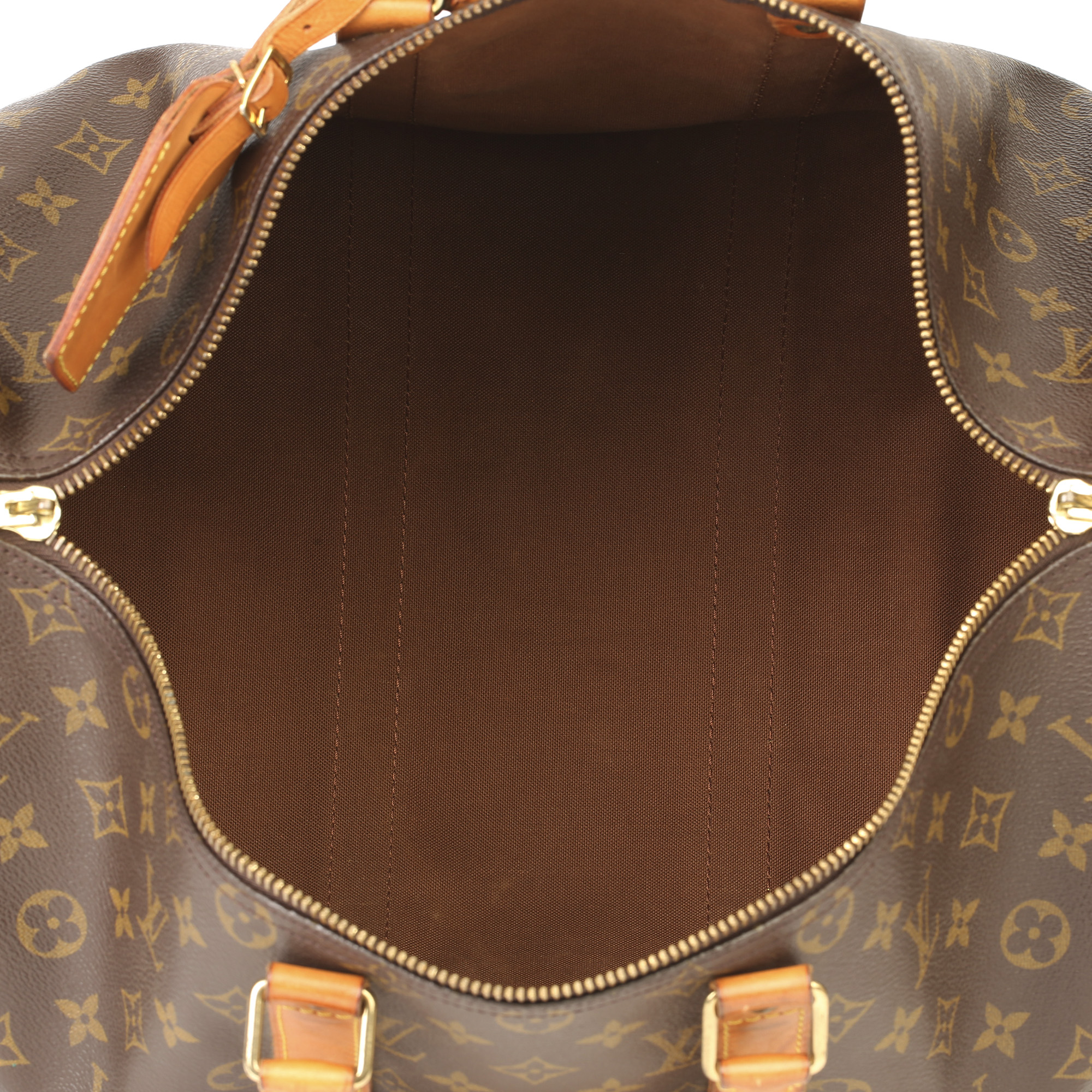 Louis Vuitton Brown Monogram Coated Canvas & Vachetta Leather Vintage Keepall 45 Bandoulire - Image 3 of 13