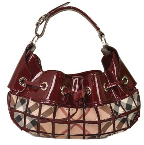 Burberry - Nova Check Warrior Rugan Hobo Shoulder Bag