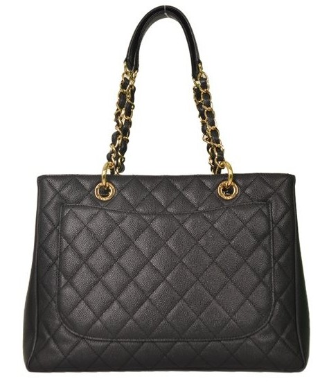 Chanel - Quilted Caviar Leather Grand Shopper Shoulder Bag - Image 6 of 6