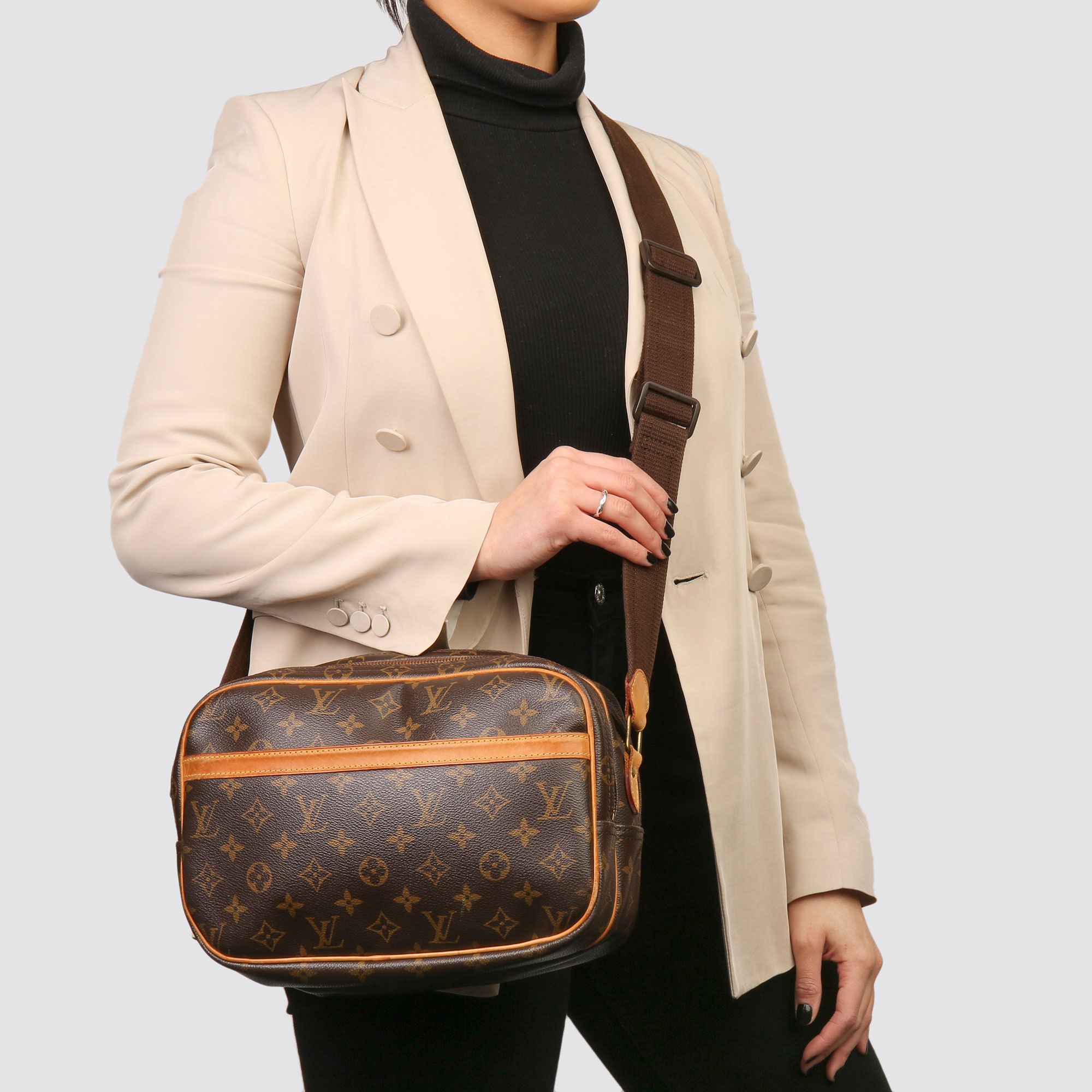 Louis Vuitton Brown Monogram Coated Canvas Vintage Reporter PM - Image 2 of 11