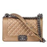 Chanel - Boy Sleek Lines Medium leather shoulder bag