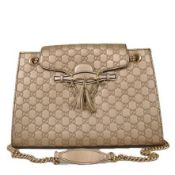 Gucci - Guccisima Emily Large Leather Shoulder Bag