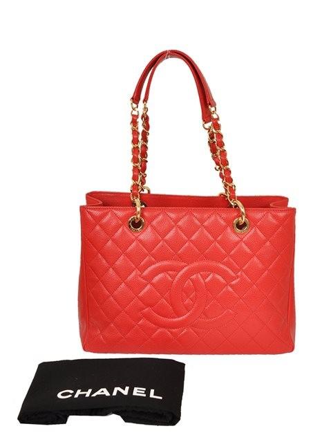 Chanel - Leather Grand Shopper Shoulder Bag - Image 7 of 8
