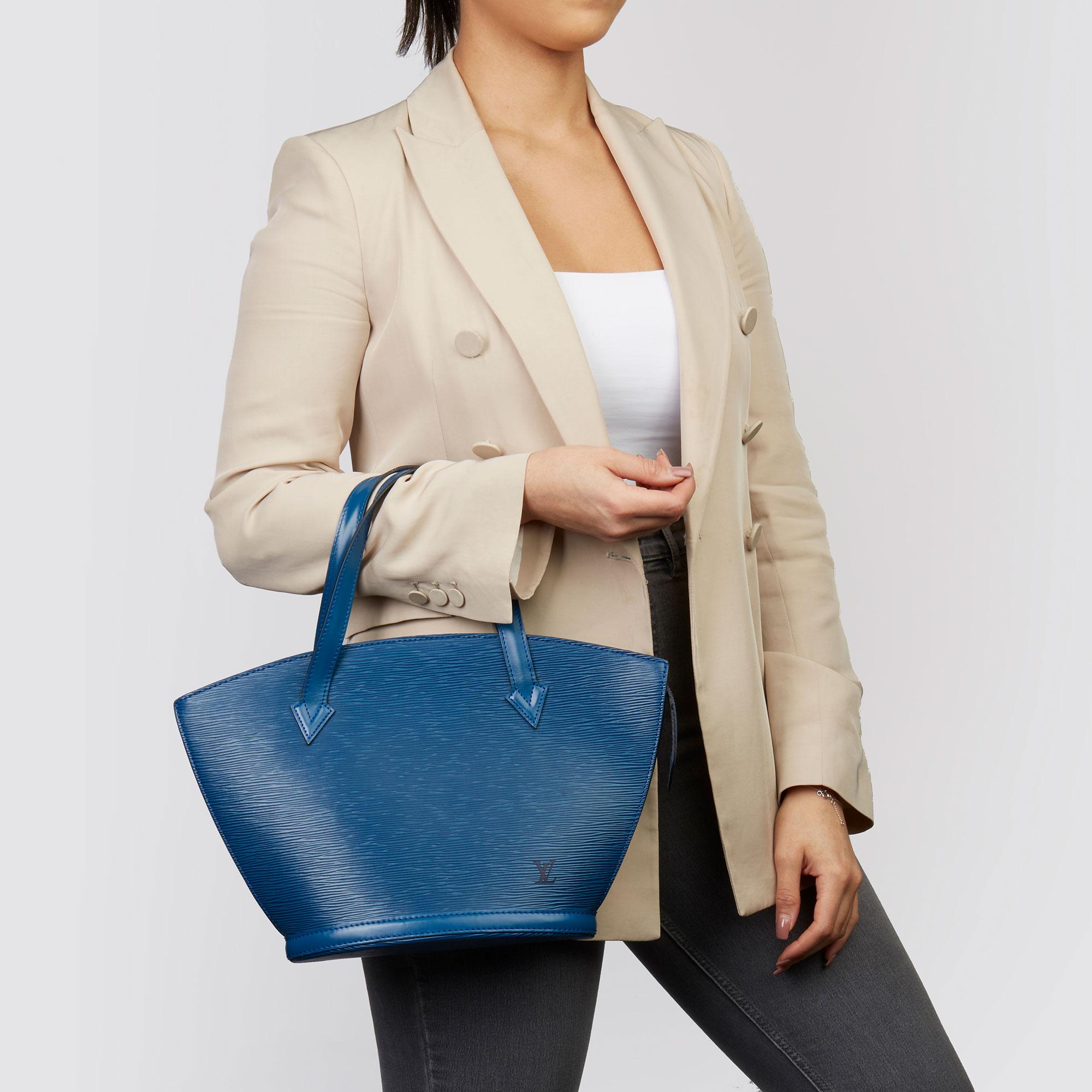 Louis Vuitton Blue Epi Leather Vintage Saint Jacques PM - Image 2 of 11