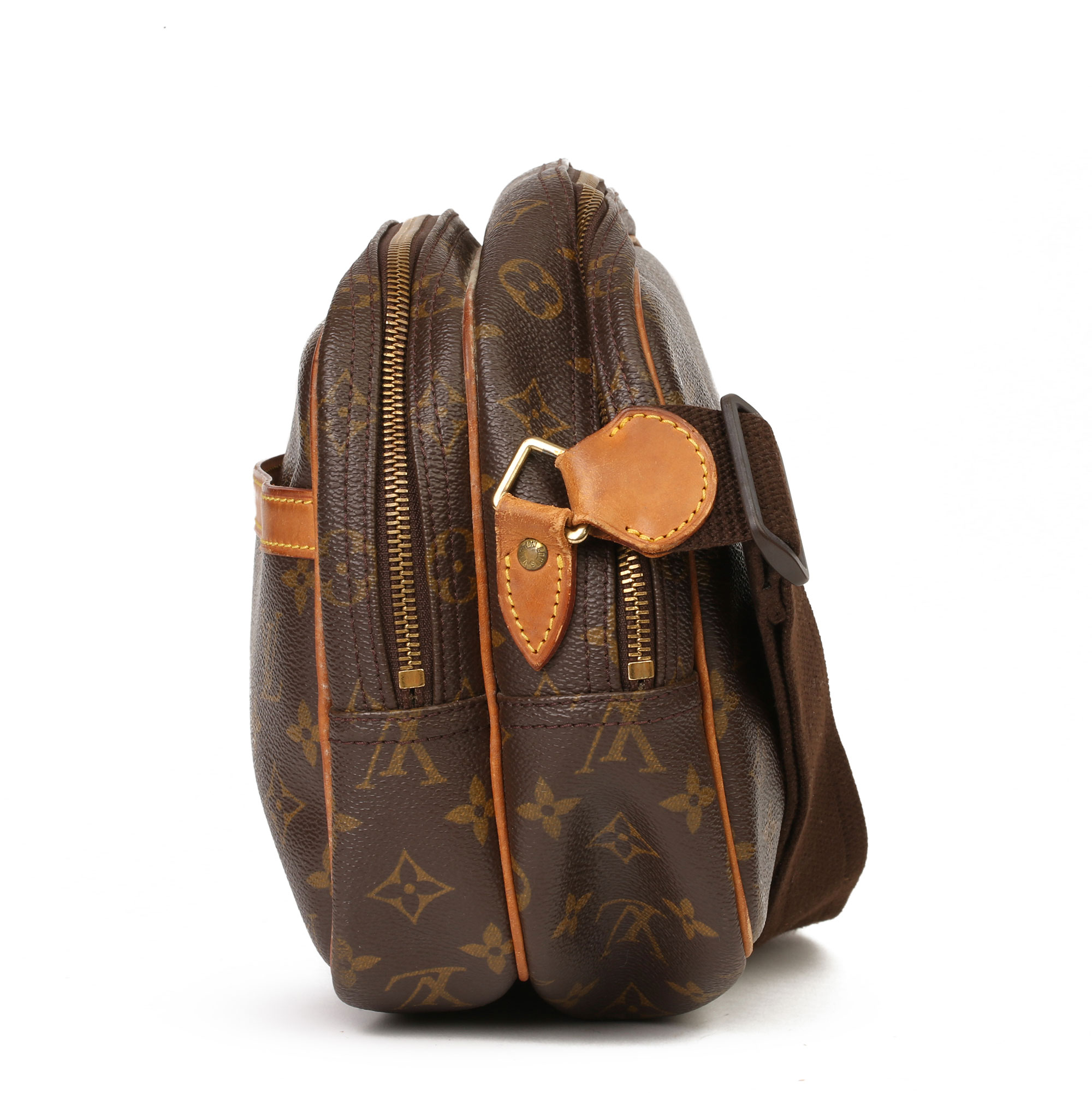 Louis Vuitton Brown Monogram Coated Canvas Vintage Reporter PM - Image 10 of 11