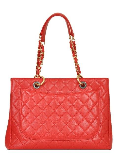 Chanel - Leather Grand Shopper Shoulder Bag - Image 4 of 8