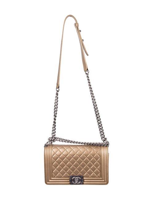 Chanel - Boy Sleek Lines Medium leather shoulder bag - Image 12 of 12