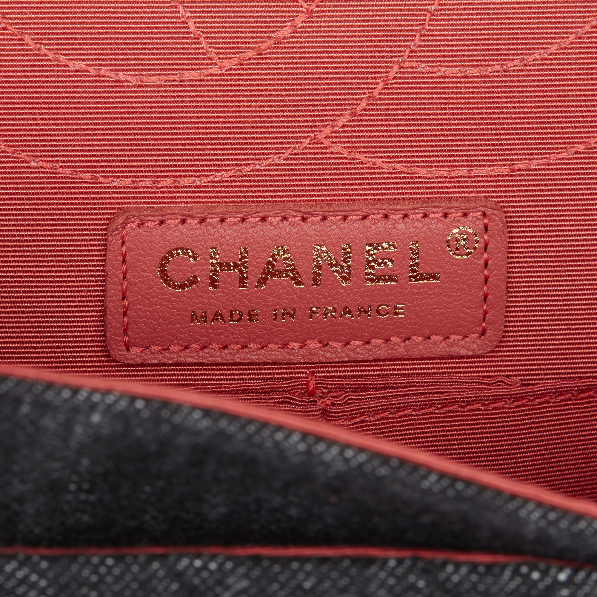 Chanel Black Quilted Denim & Pink Tweed 2.55 Reissue 225 Double Flap Bag - Image 6 of 12