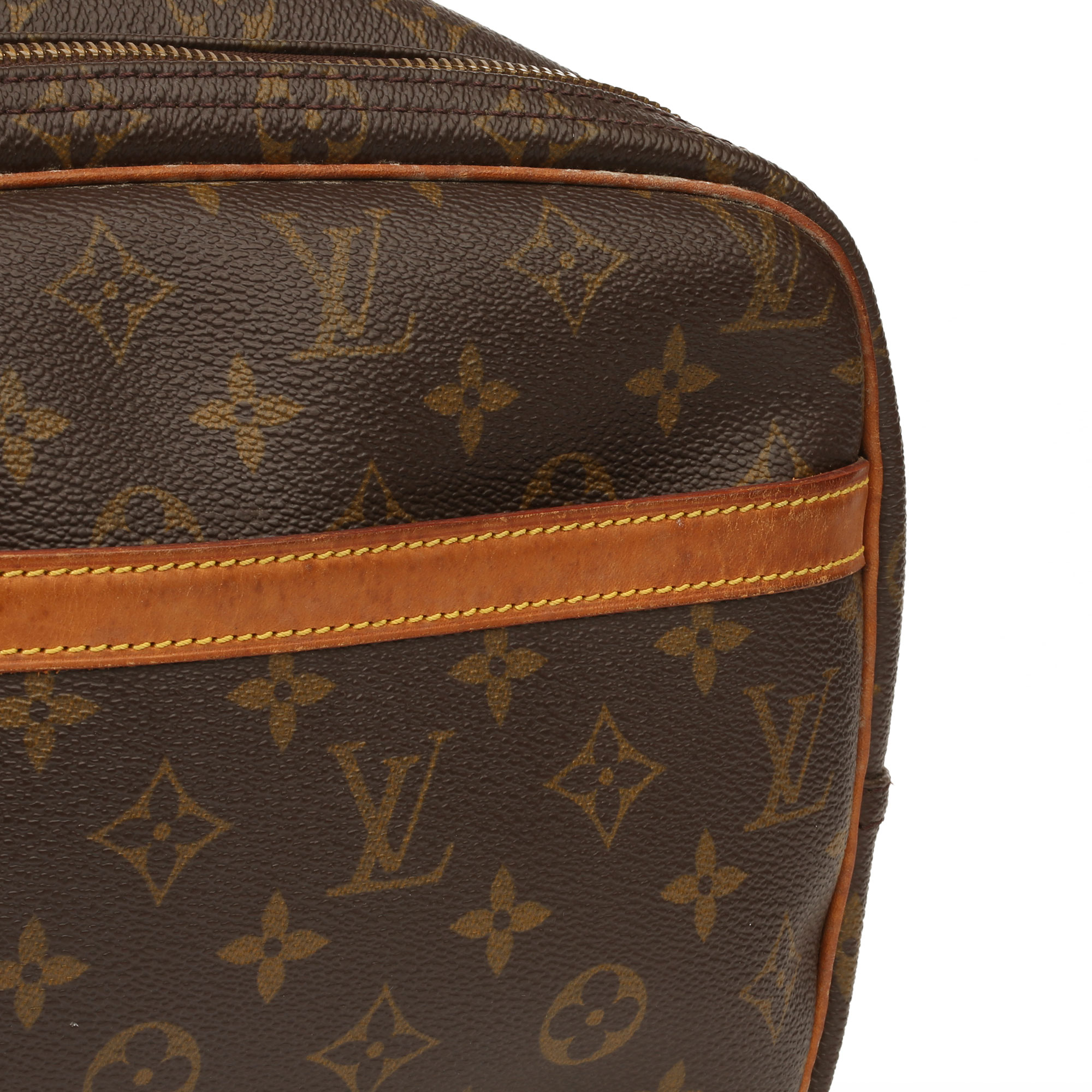 Louis Vuitton Brown Monogram Coated Canvas Vintage Reporter PM - Image 7 of 11