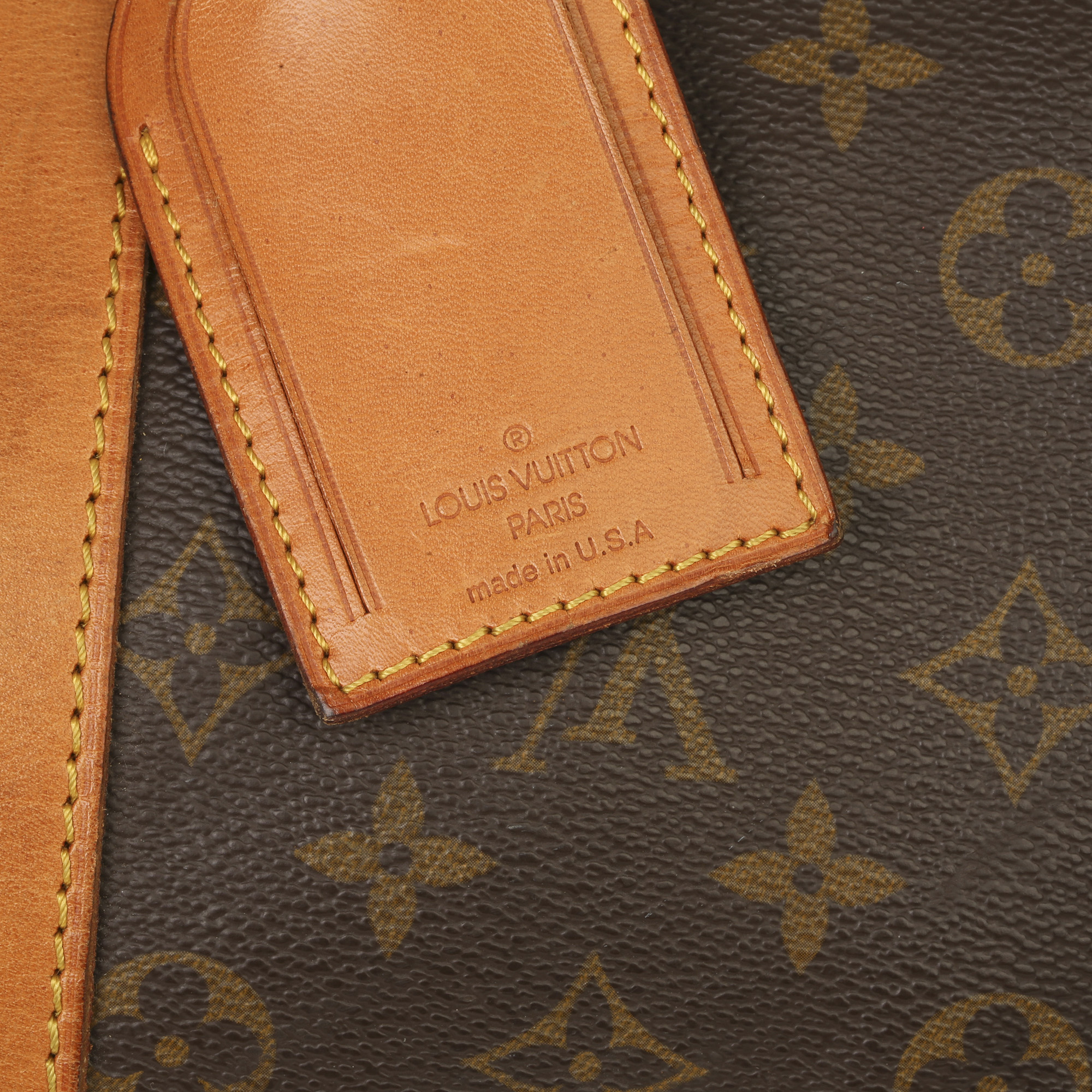 Louis Vuitton Brown Monogram Coated Canvas & Vachetta Leather Vintage Keepall 45 Bandoulire - Image 5 of 13