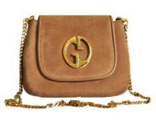 Gucci - Suede Mini Chain Messenger Shoulder Bag