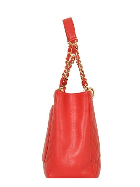 Chanel - Leather Grand Shopper Shoulder Bag - Image 3 of 8