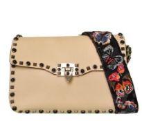 Valentino - Rockstud Butterfly Strap Leather Shoulder Bag