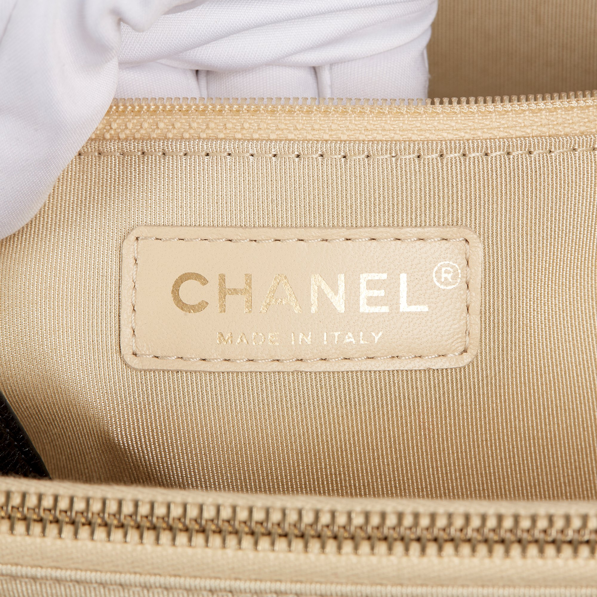 Chanel Black Quilted Calfskin Leather Large Label Click bidping Tote - Image 8 of 11