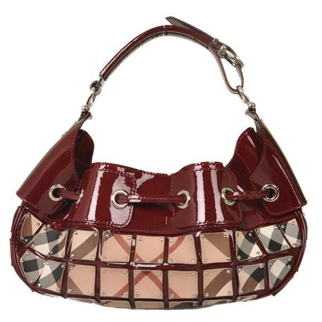 Burberry - Nova Check Warrior Rugan Hobo Shoulder Bag - Image 3 of 7