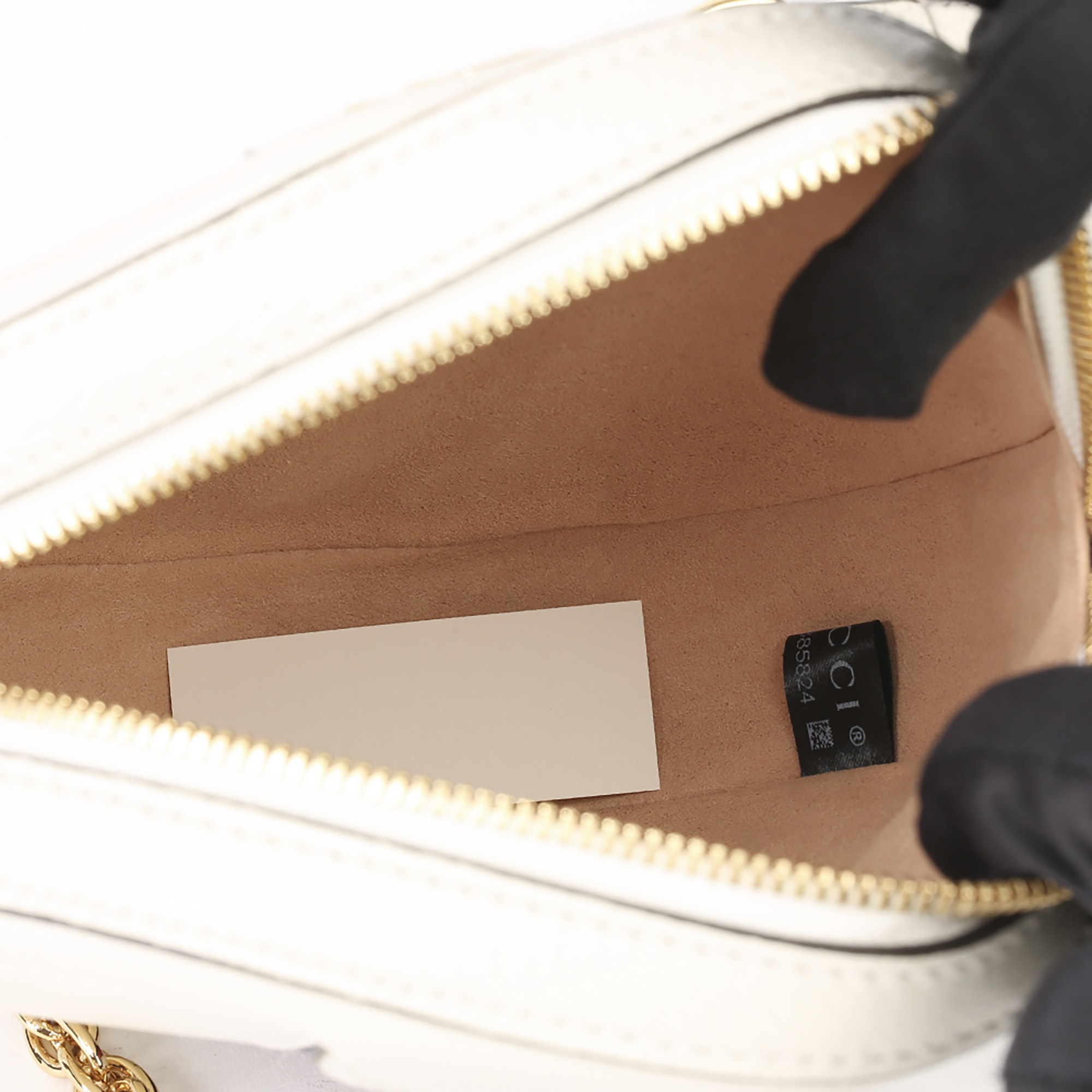 Gucci White Pigskin Leather Web Mini Round Orphidia Shoulder Bag - Image 3 of 11