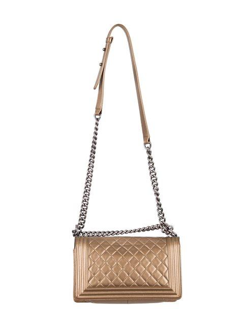 Chanel - Boy Sleek Lines Medium leather shoulder bag - Image 10 of 12