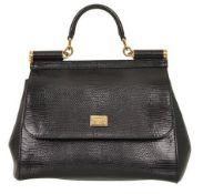 Dolce & Gabbana - Iguana Print Sicilly Medium Hand ve Shoulder Bag