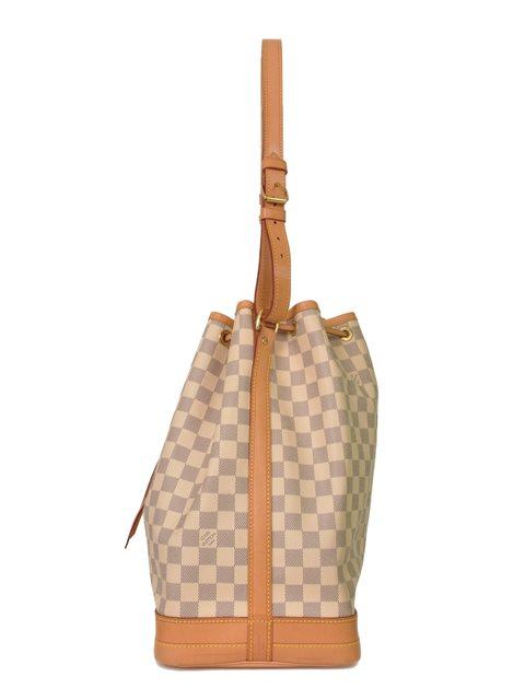 Louis Vuitton - Damier Azur Noe Bucket Leather Shoulder Bag - Image 3 of 7