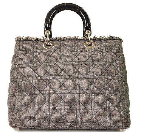 Christian Dior - Lady Dior Denim Large Hand Bag - Image 2 of 5