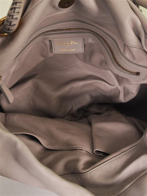 Christian Dior - Pleated Libertine Leather Shoulder Bag - Image 6 of 6